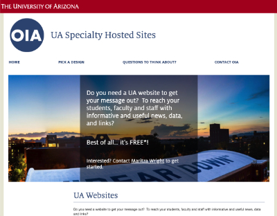 faculty.arizona.edu site
